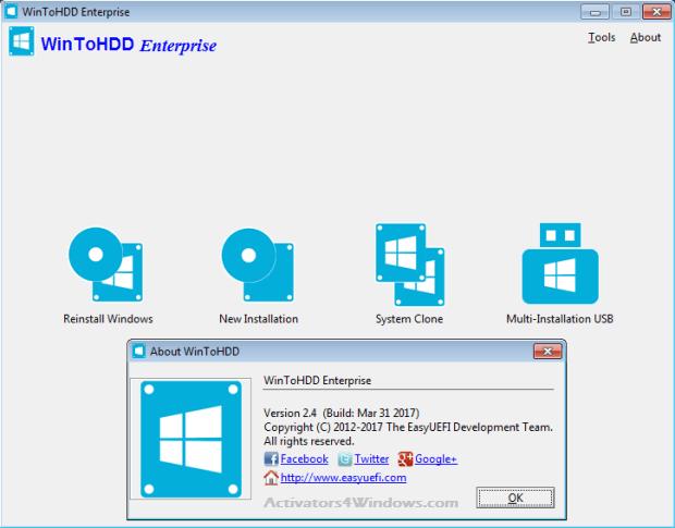 WinToHDD Enterprise 3.2 Crack + Full Keygen | Activators4Windows