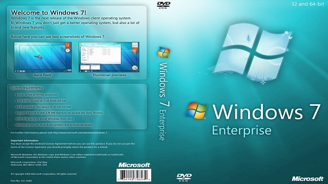 Windows 7 Enterprise (Official ISO Image) Full Version – [32/64 Bit ISO]