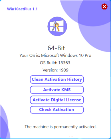 Win10actPlus 1.1 Free Download - Windows 10 Activator 2020