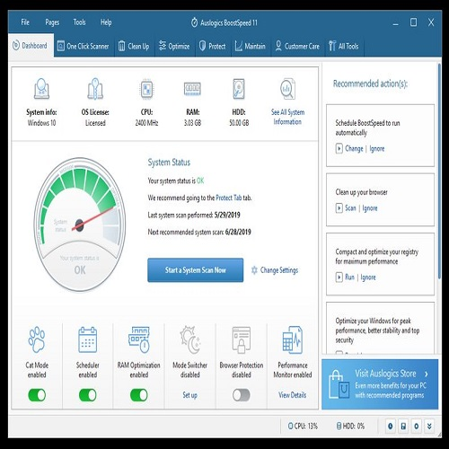 Auslogics BoostSpeed 12.2.0.0 Crack Plus Keygen Full Download 2021